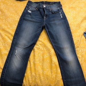 Woman's 7 for all mankind skinny jeans size 24